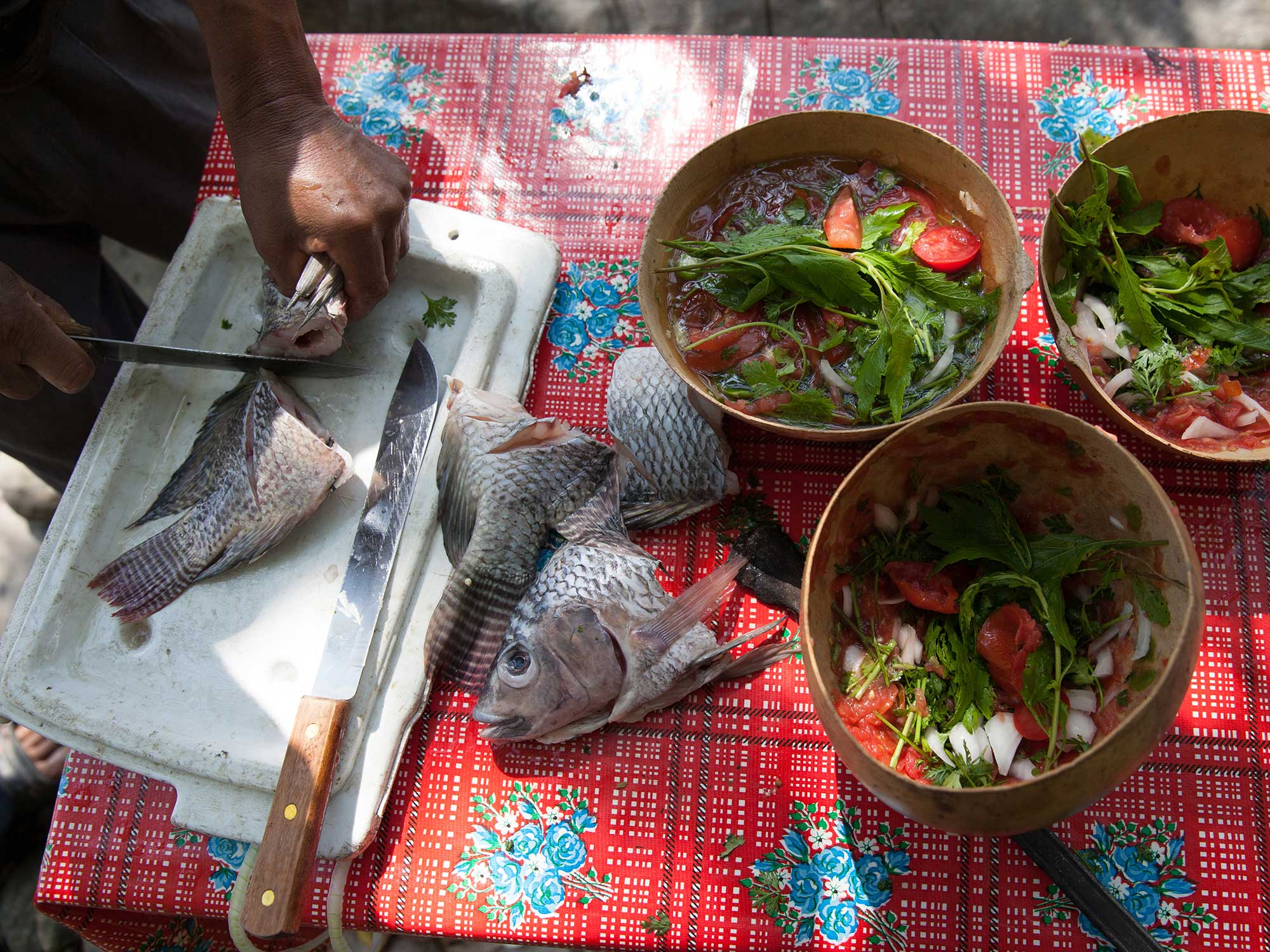 The Final Ingredient to This Mexican Soup? A Hot Rock to Cook It