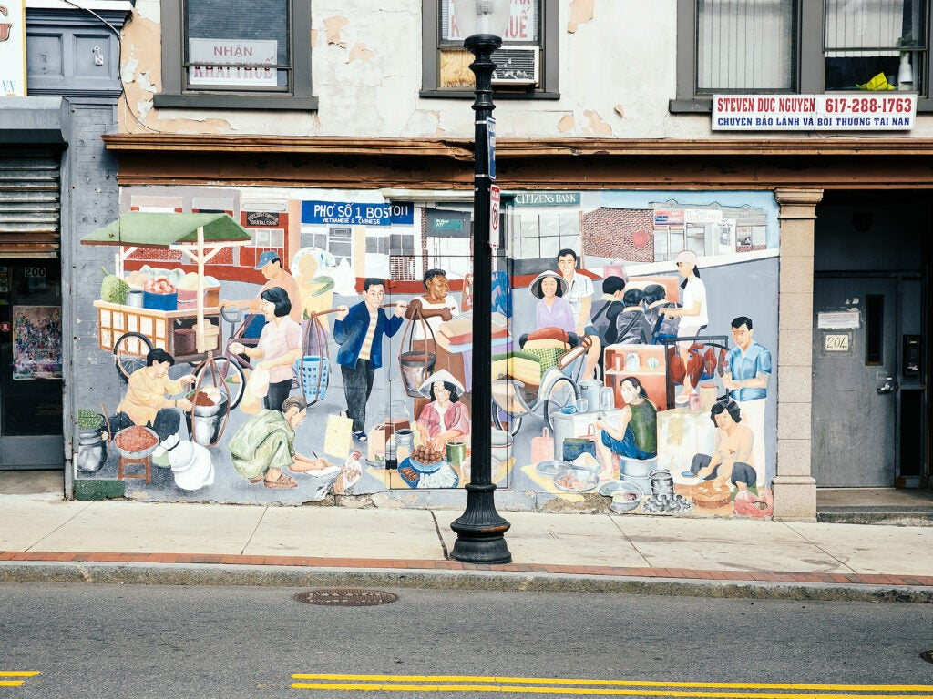 Mural on Adams Street at Fields Corner, Dorchester, MA