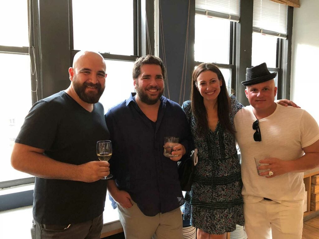 Cosme Aguilar of Casa Enrique, Michael Stillman from Quality Branded, his wife Allison Levine, and Ryan Bartlowe of Ernesto's