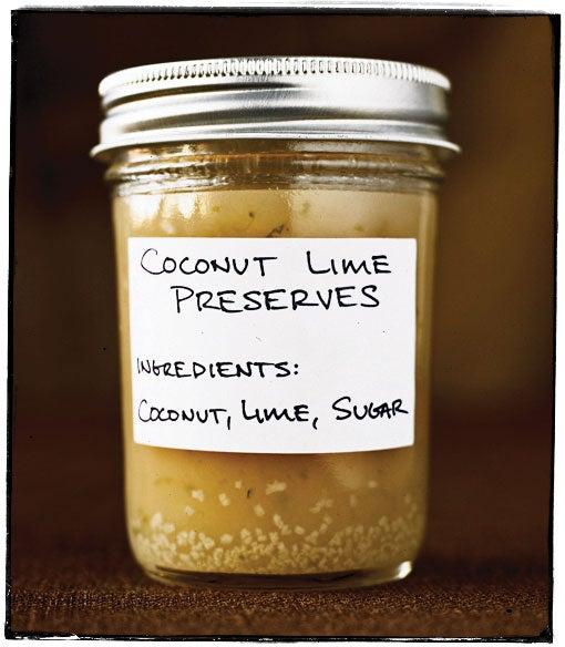 Coconut Lime Preserves
