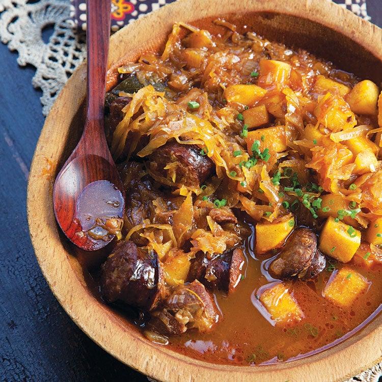 Bigos (Polish Pork and Sauerkraut Stew)
