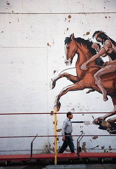 A Downtown mural