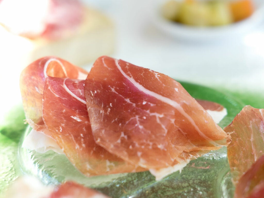 37-month aged, Culatello-style ham made from black pigs.