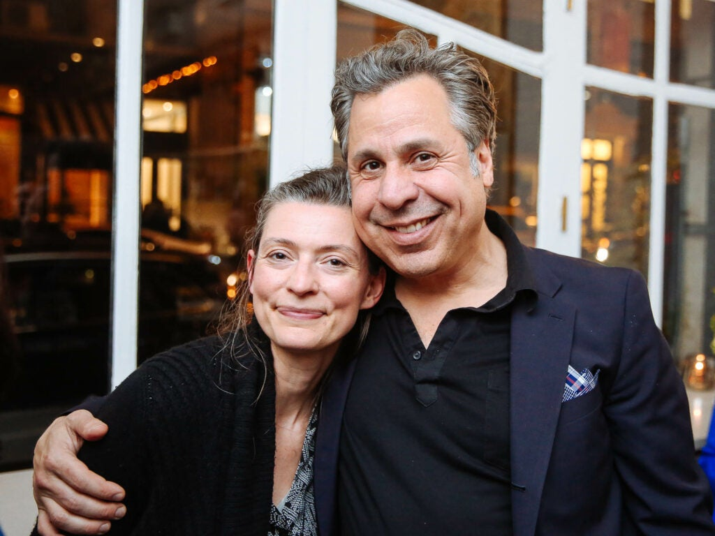 Ana Dane of In Pursuit of Tea and Andy Rapoport come together for a photo at Fusco.