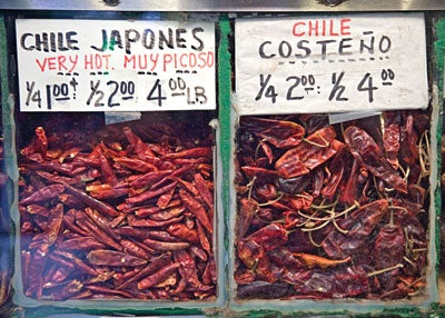 Chiles at Grand Central Market