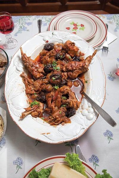Rabbit and Onion Stew (Kouneli Stifado)