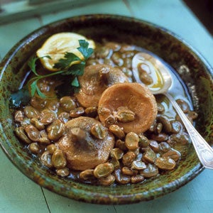 Artichoke and Fava Stew with Lemon Sauce