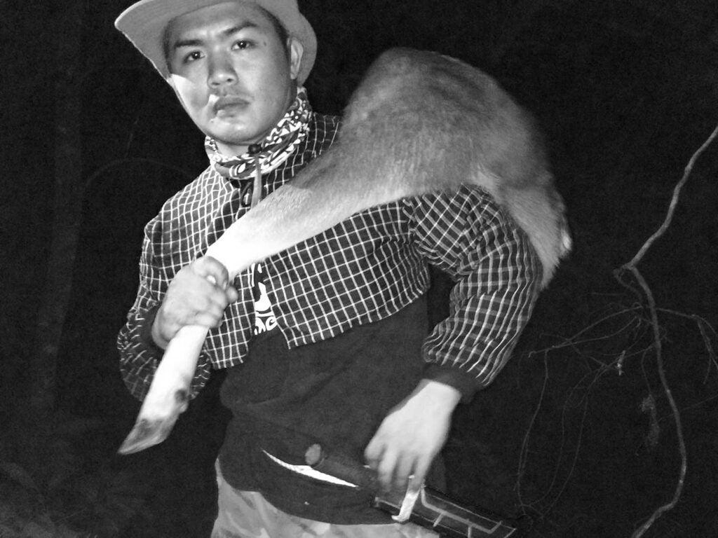 Lrakadrangilra with a muntjac deer