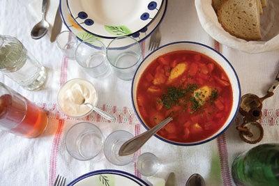 Chicken Soup with Semolina Dumplings