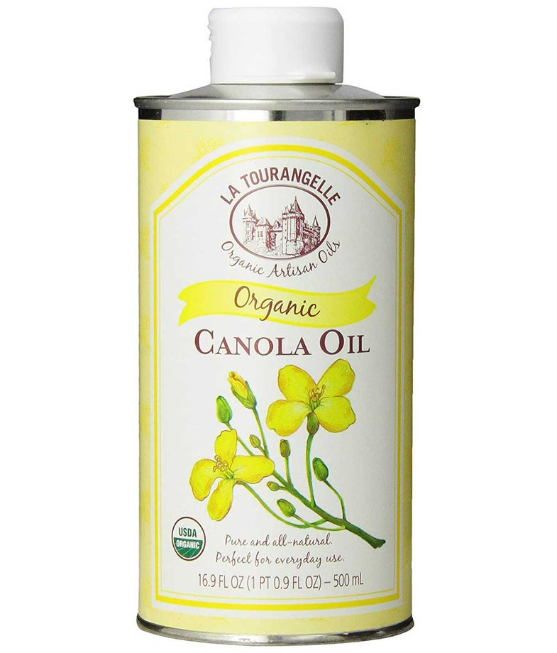 La Tourangelle Organic Canola Oil 16.9 Fl. Oz, All-Natural, Artisanal, Great for Cooking and Baking or as Base for Marinade