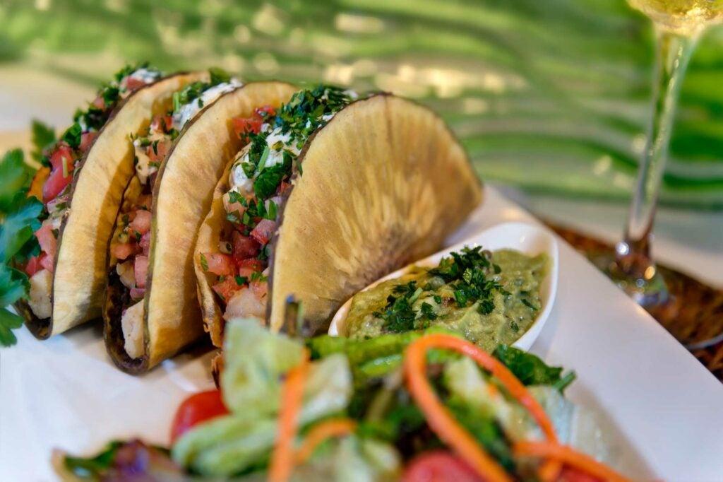 Chef Cindy Hutson's breadfruit tacos from Ortanique in Miami