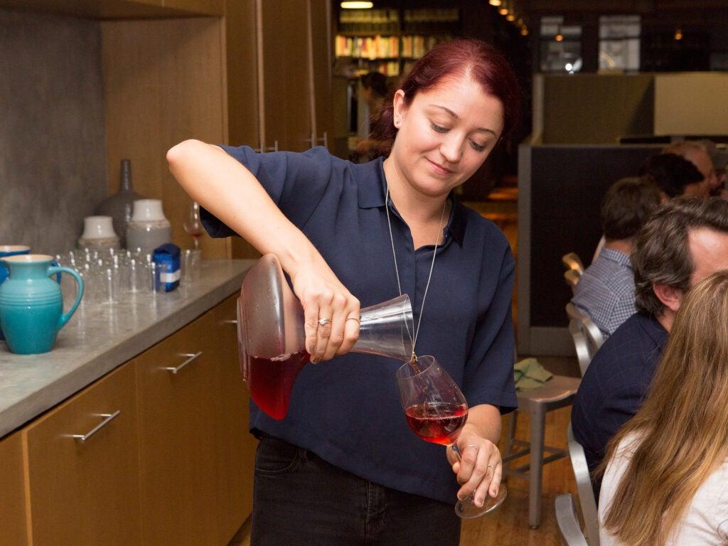 sommelier NoMad serving rosé