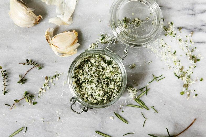 Hand-Chopped Garlic Herb Salt
