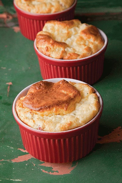 Ham and Cheese Souffles