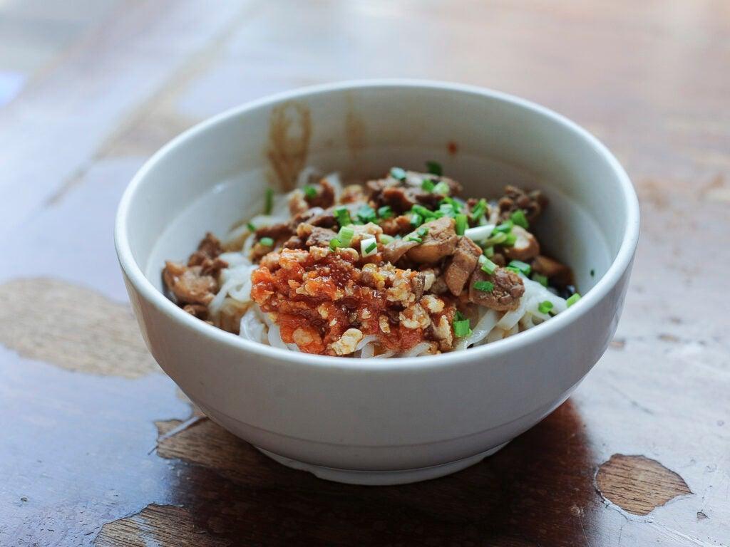 Burmese street food Shan Noodles