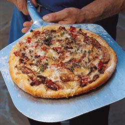 Mushroom and Fontina Pizza