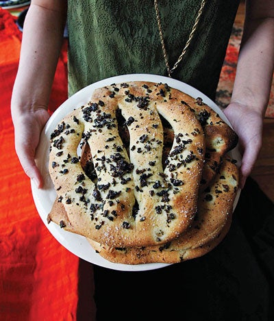 Fougasse (Provençal Bread with Olives and Herbs)