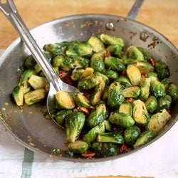 Sauteed Brussels Sprouts with Pecans