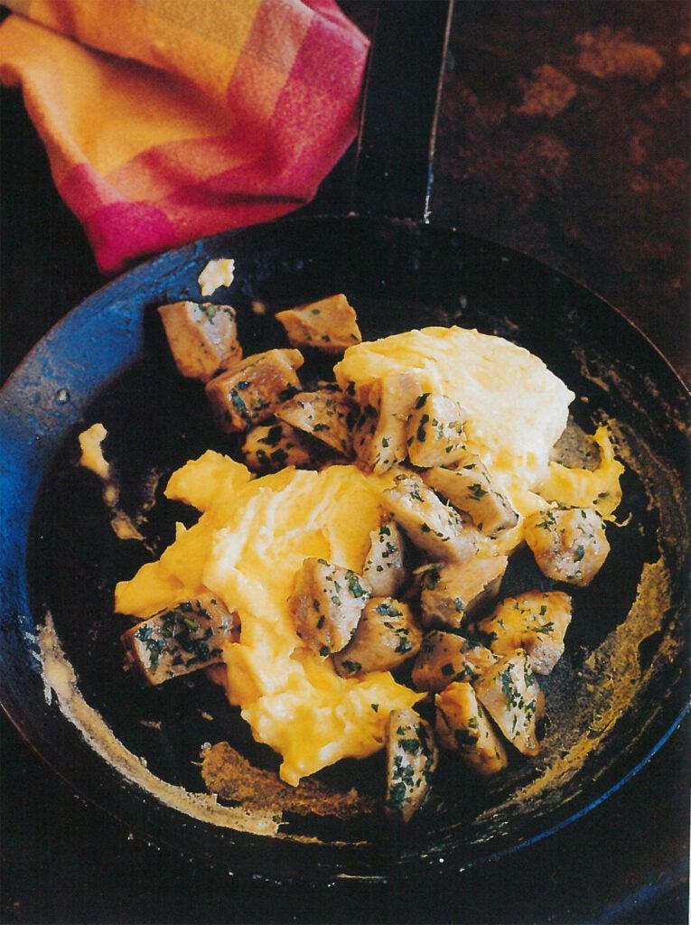 *ardi shawki bil-bayd*, artichokes with scrambled eggs,