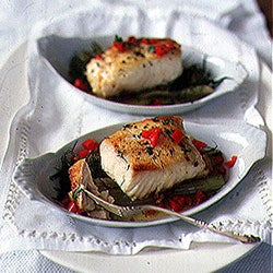 Halibut with Braised Fennel