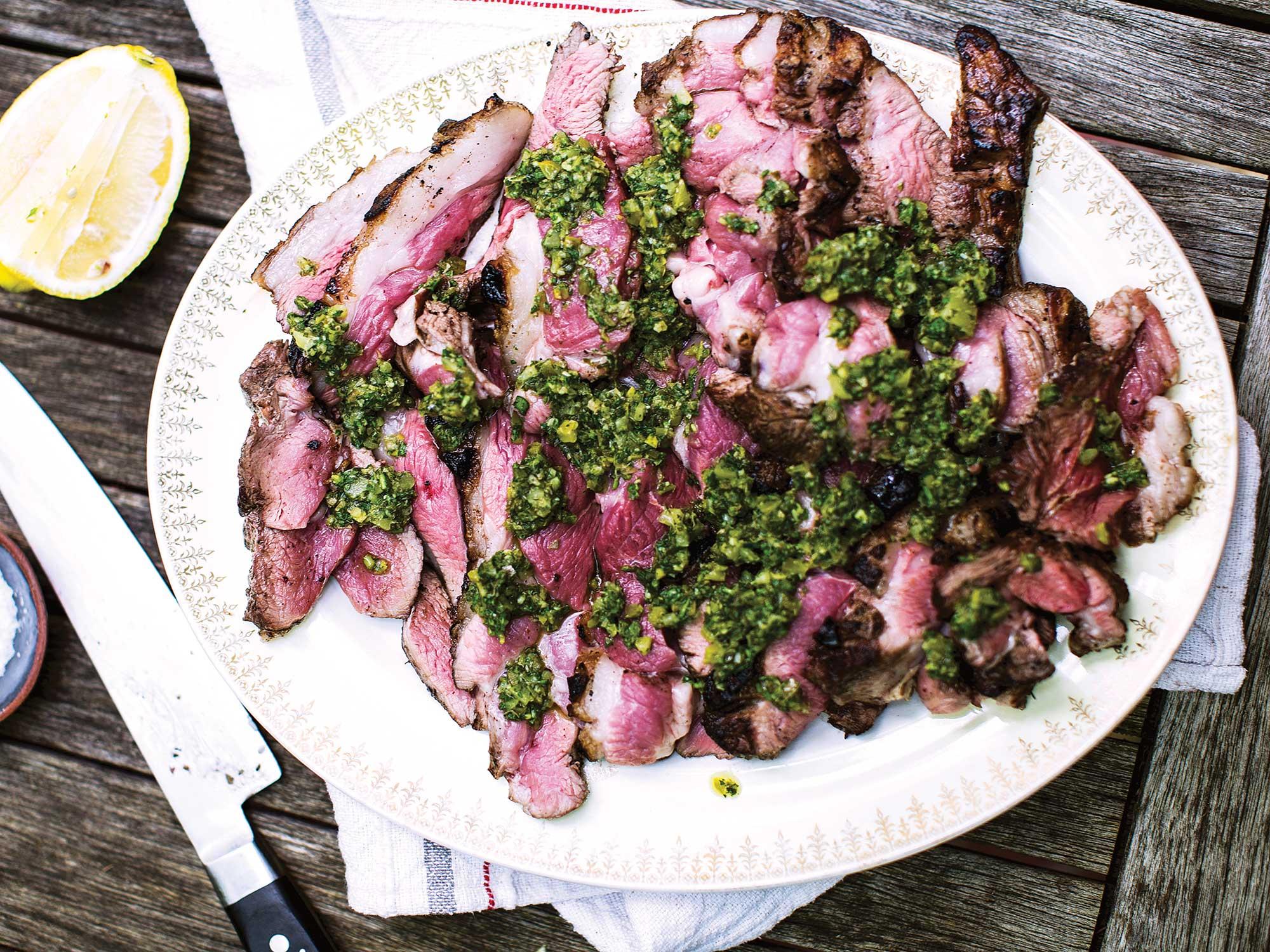 Grilled lamb sirloin recipe
