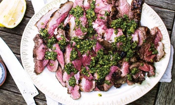 Grilled Lamb Sirloin with Salsa Verde