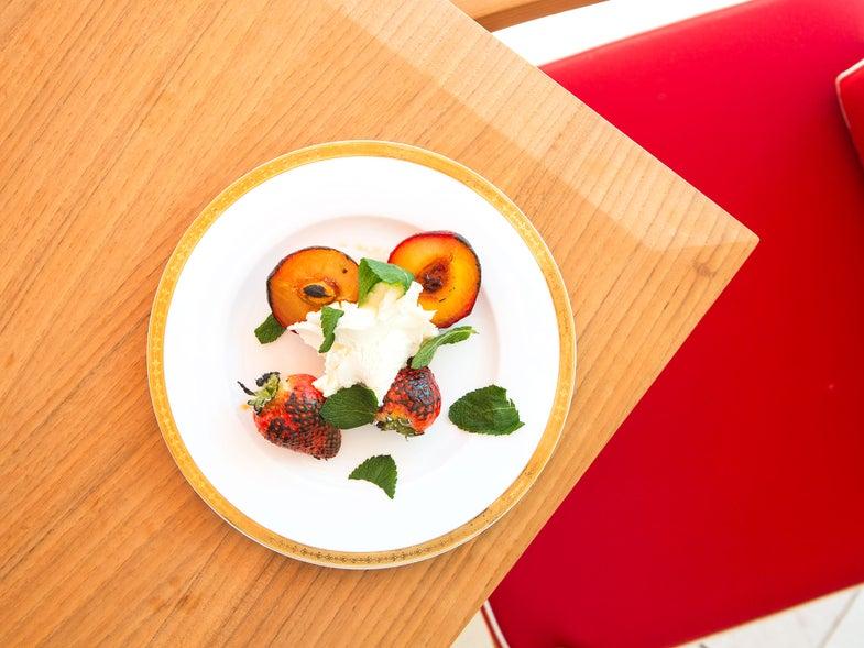 Peaches and Strawberries Mascarpone