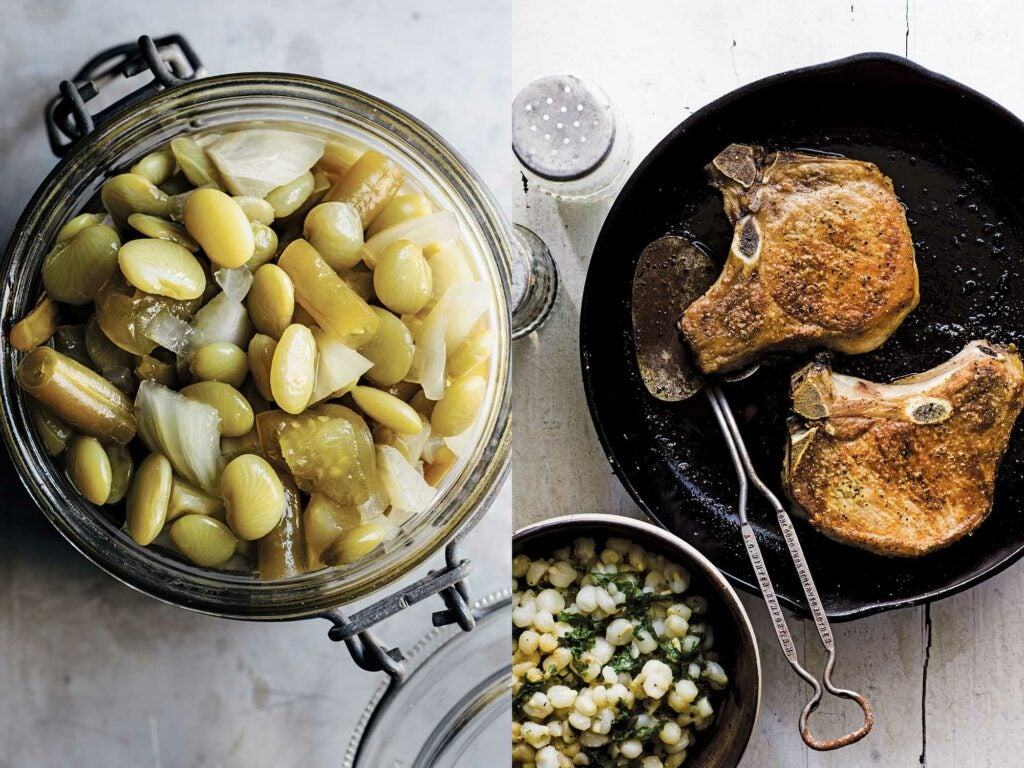 pickles and pork chops