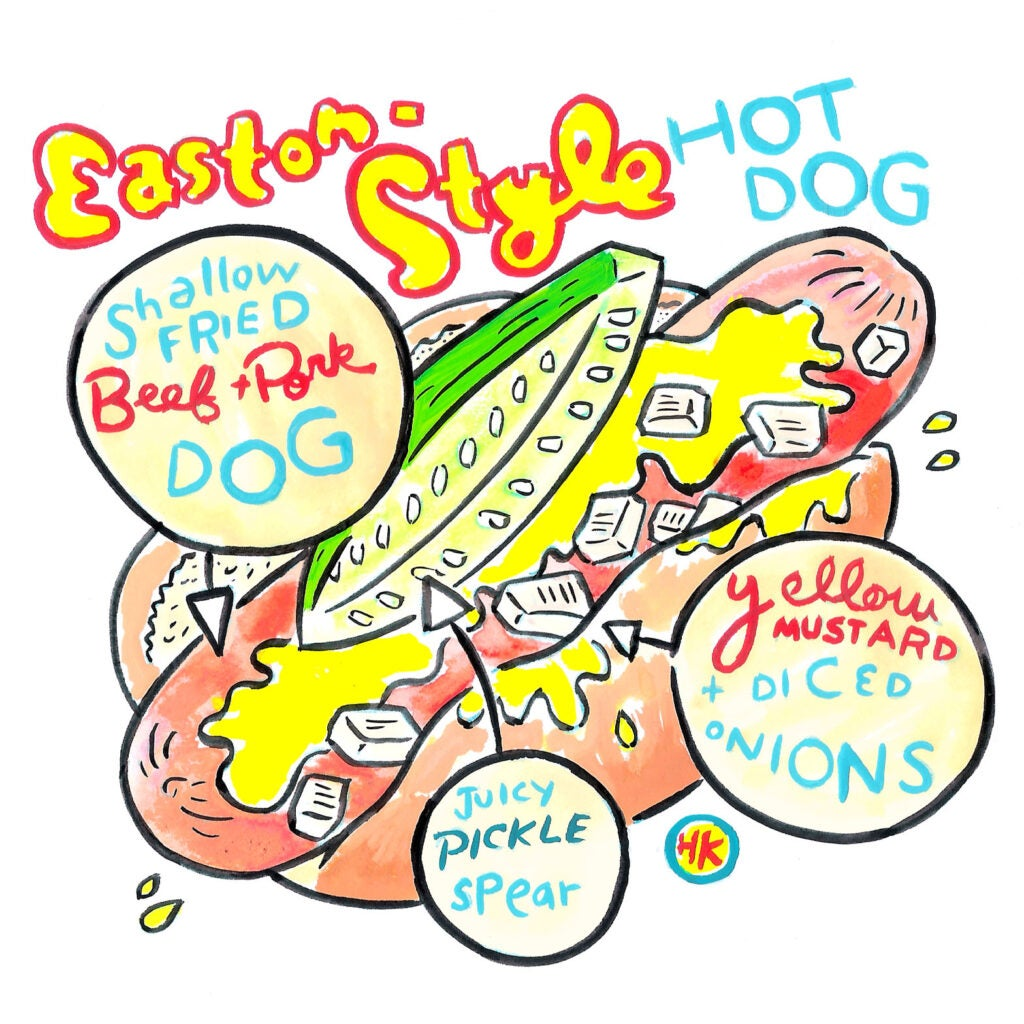 hot dog illo
