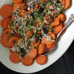 Yams with Ginger and Scallions