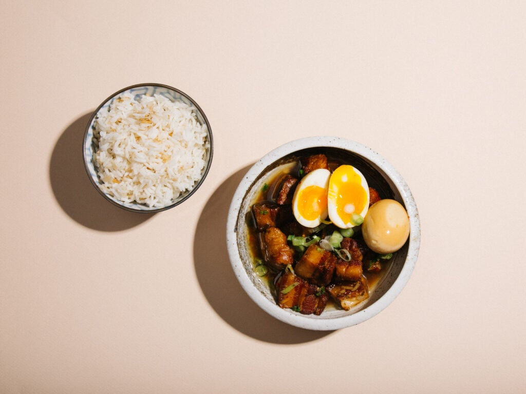 Braised and caramelized Vietnamese Coco pork belly (thit kho)
