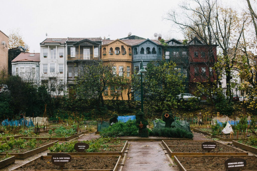 A Turkish *bostan*, or community garden, from Fare Magazine's story