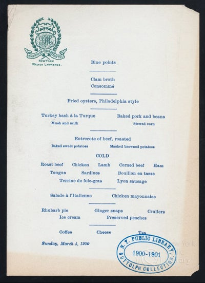 Dining Commons: The New York Public Library's Ambitious Menu Database Project