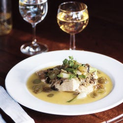 Sea Bass with Grapes