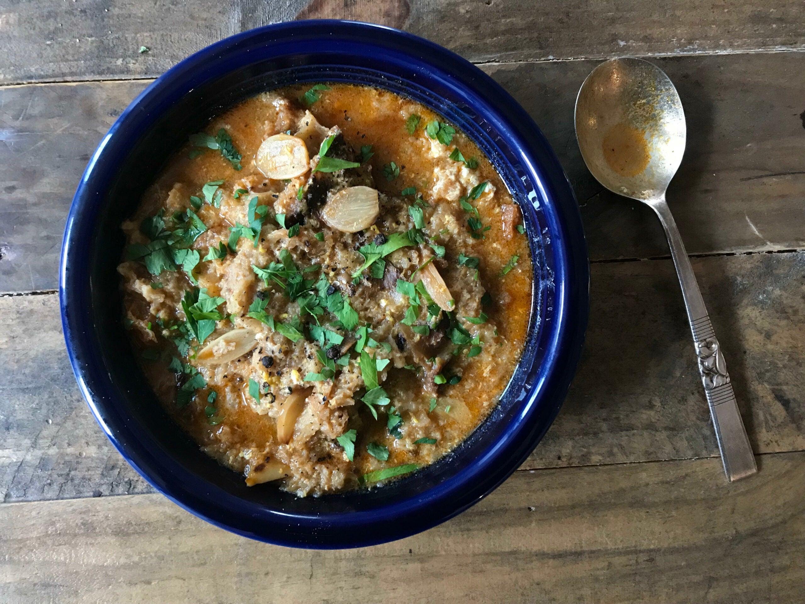 Sopa de Ajo (Castilian Garlic and Bread Soup)