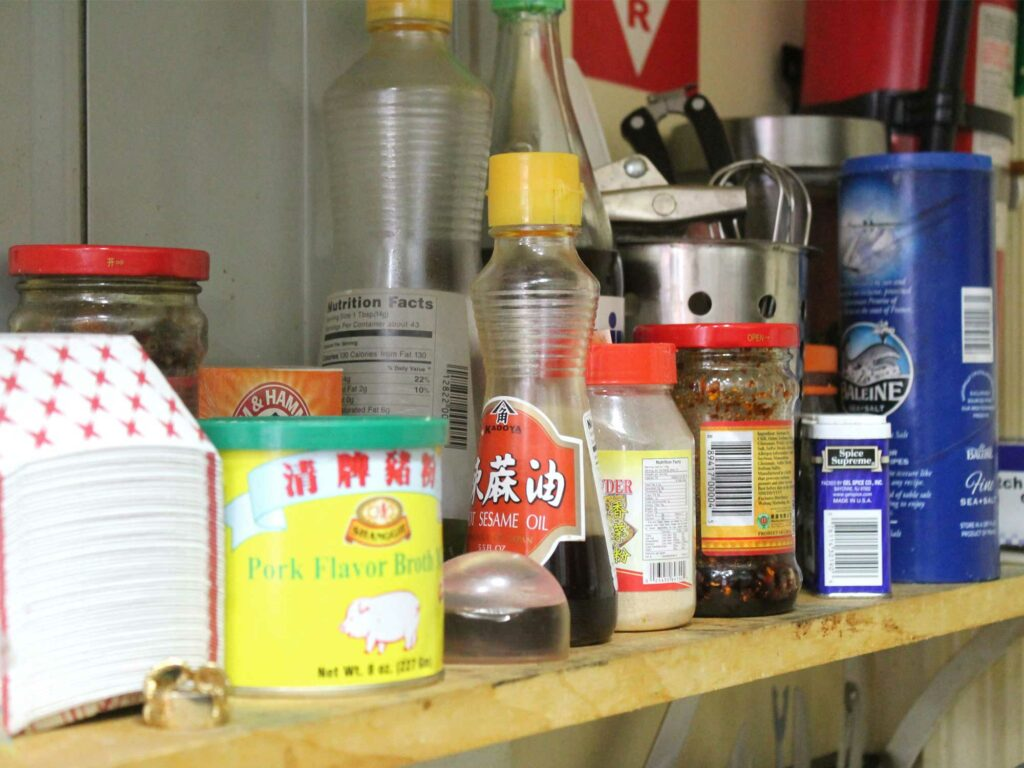 Condiment shelf