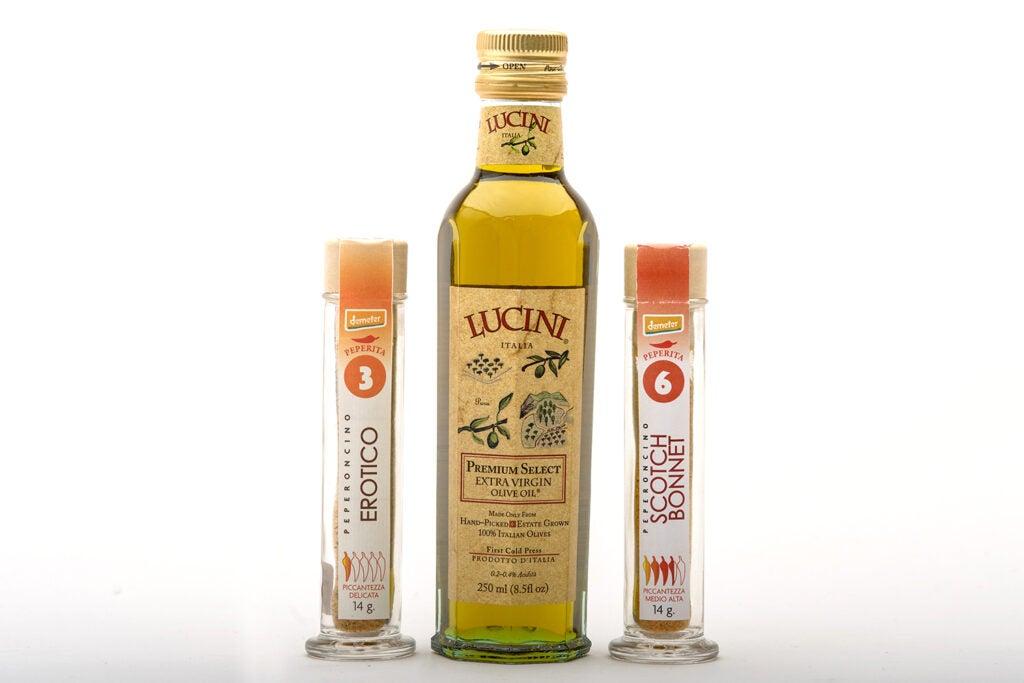 Lucini olive oil set