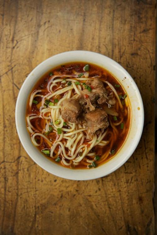 Sichuan Noodle and Pork Shoulder Soup (Yu Xiang Pai Gu Mian)