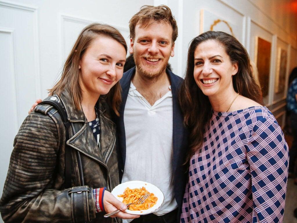 Olga Grigorenko, photographer William Hereford and publicist Evyn Block are all smiles.