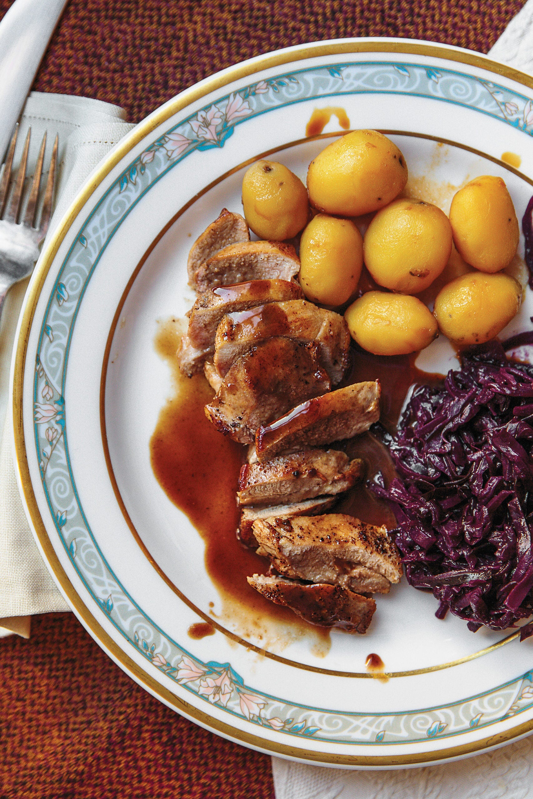 Icelandic christmas grouse with berry sauce