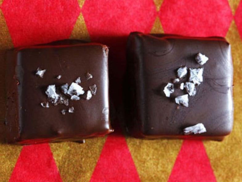 Chocolate–Peanut Butter Nougat Squares