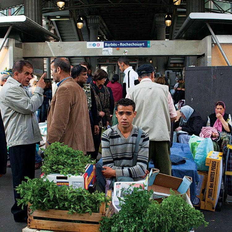 Moroccan market in paris
