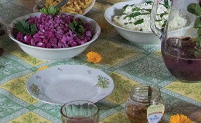 Pupiņi un Biešu Salāti (Beet and Bean Salad)
