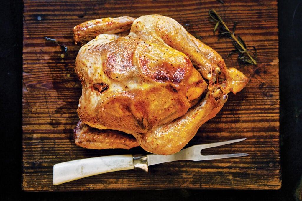 Roast Chicken with Saffron and Lemon