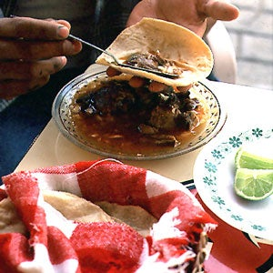 Birria (Braised Goat or Lamb with Chile–Tomato Sauce)