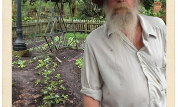 Postcard: Farmer Craig Black at Houmas House Plantation and Gardens