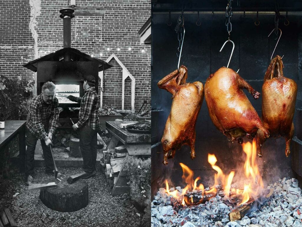 open fire chicken