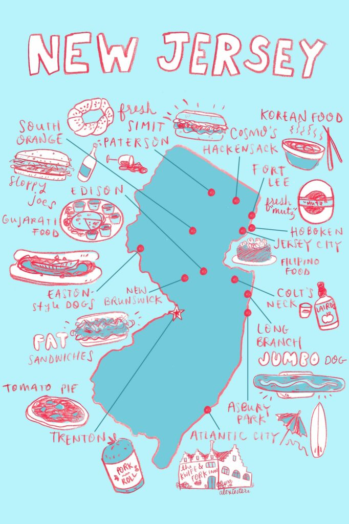 Map of New Jersey's food