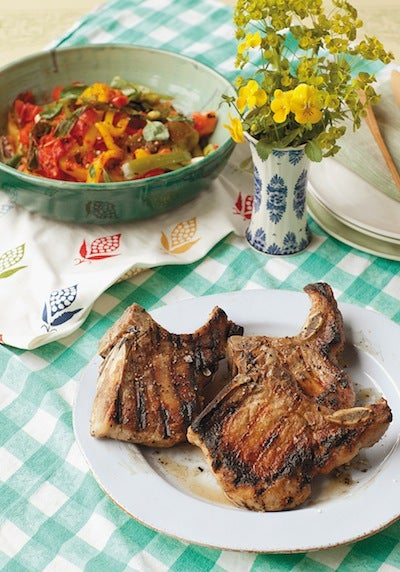 Charred Lemon-Pepper Pork Chops