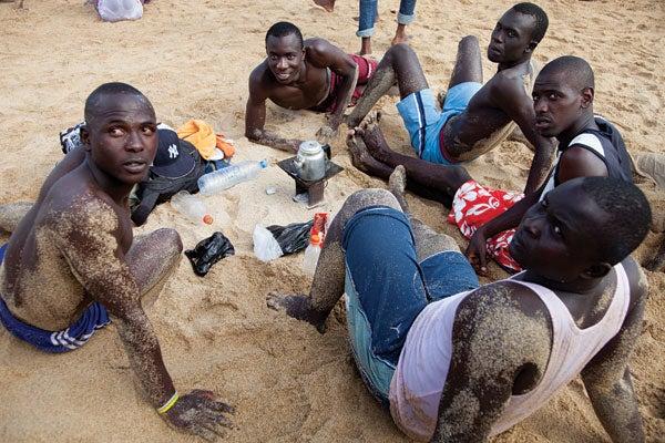 A tea break on the beach at Corniche Ouest, in Dakar